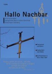 9. bis 19. März 2006 Haus - Evangelische Martin-Luther-Gemeinde