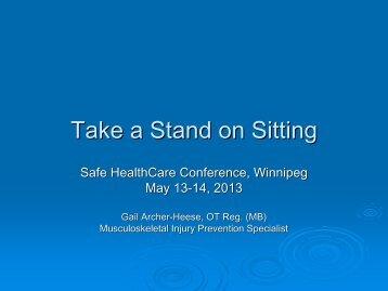 Take a Stand on Sitting - Winnipeg Regional Health Authority