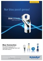 Blue connection® Katalog - Gustav Klauke GmbH