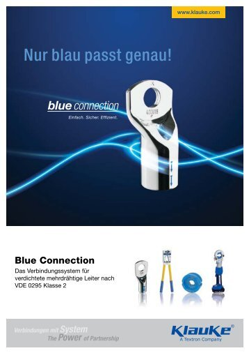 Blue connection® Katalog - Gustav Klauke GmbH
