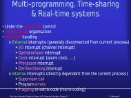 Multi-programming, Time-sharing & Real-time systems - IIHE