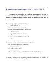 Exemples de questions d'examen sur les chapitres I à X - IIHE