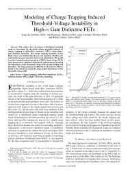 Modeling of Charge Trapping Induced Threshold ... - IEEE Xplore