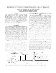 lumped, inductorless oscillators - Stanford Technology CAD Home ...