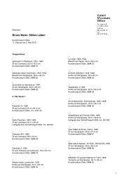 werkliste (pdf) - Kunstmuseum Olten