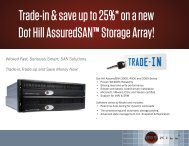 Trade-in & save up to 25%* on - Dot Hill