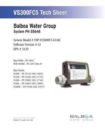 55646, VSP-VS300FC5-CCAH - Balboa Direct