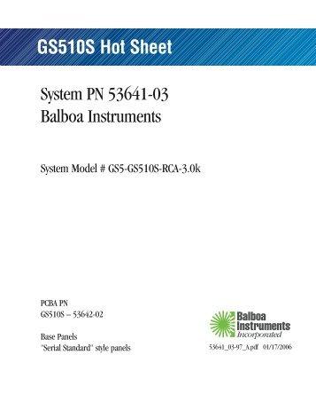 53641-03, GS5-GS510S-RCA-3.0k - Balboa Direct