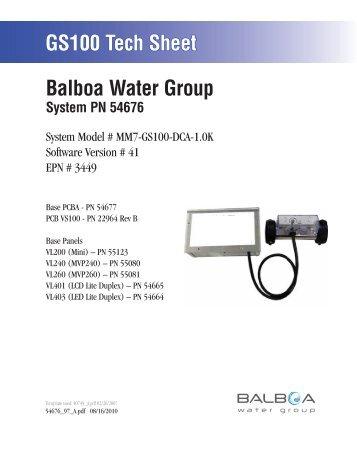 54676, MM7-GS100-DCA-1.0K - Balboa Direct