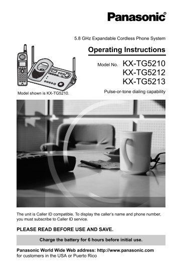 KX-TG5212 KX-TG5213 - Operating Manuals for Panasonic ...
