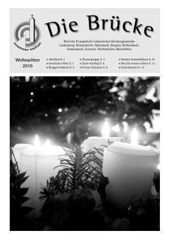 Weihnachten 2010 - Evangelisch-Lutherische Kirchengemeinde ...