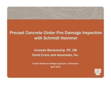Precast Concrete Girder Fire Damage Inspection with Schmidt ...