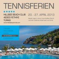 Tennisferien Türkei 2013