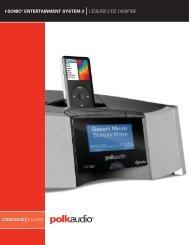 I-SONIC® ENTERTAINMENT SYSTEM 2 L'ÉCOUTER ... - Polk Audio