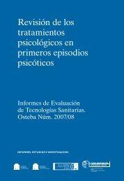 Revisión de los tratamientos psicológicos en primeros ... - Euskadi.net