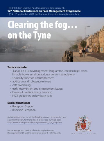 Clearing the fog… on the Tyne - The British Pain Society