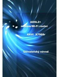 ADSL2+ modem/Wi-Fi router XAVi X7968r Uživatelský ... - T-Mobile