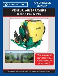 VENTURI AIR SPRAYERS MODELS P42 & P45