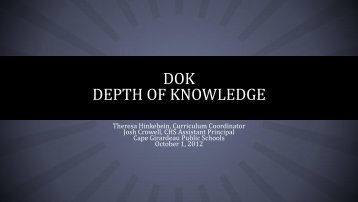 WHAT IS DOK? - Cape Girardeau Public Schools