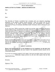 Sample Letters to Attorneys - UF Privacy Office - University of Florida