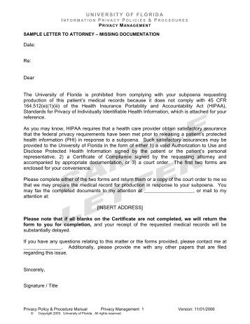 Sample letter of request for evidence serious fraud office sample letters to attorneys uf privacy office university of florida spiritdancerdesigns Images