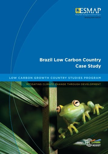 Brazil Low Carbon Country Case Study - Climate Change ...
