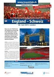 England – Schweiz - Travelclub