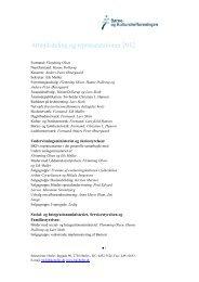 Arbejdsdeling og repræsentationer 2012