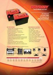 PC1500/34 PC1500/34M PC1500/34-78 ... - Enersys - EMEA