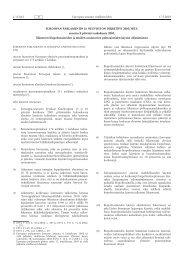 EUROOPAN PARLAMENTIN JA NEUVOSTON ... - EUR-Lex