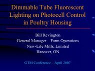 Dimmable Tube Fluorescent Lighting on Photocell Control in Poultry ...