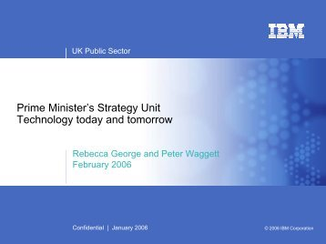 Technology today and tomorrow - Cabinet Office