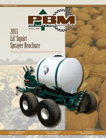 2013 Lil' Squirt Sprayer Brochure - PBM Supply & Mfg.
