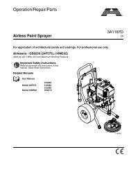 3A1187D - Airlessco Airless Paint Sprayer GS6250, Operation ...