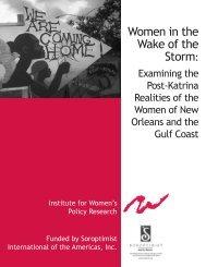 Women in the Wake of the Storm: - Soroptimist