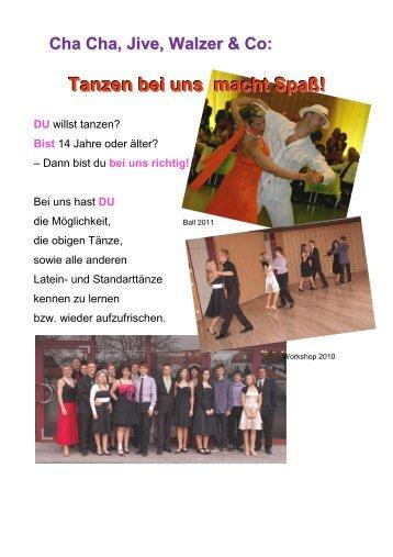 Tanzen bei uns macht Spaß! - TSV Pfuhl