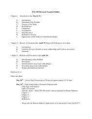EXS 489 Research Proposal Outline
