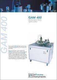 GAM 400 data sheet (PDF   567 kb) - InProcess Instruments