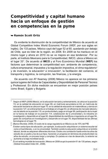 Competitividad y capital humano hacia un enfoque de ... - SELA