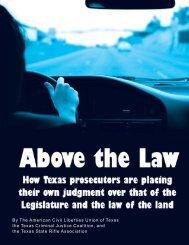 By The American Civil Liberties Union of Texas ... - Cargo Gun Club
