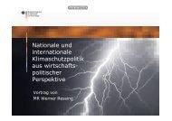 Nationale und internationale Klimaschutzpolitik aus wirtschafts ...
