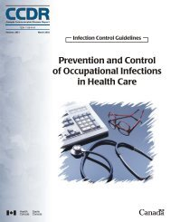 Prevention and Control of Occupational Infections in Health Care