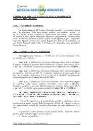 CAPITOLATO SPECIALE D'APPALTO PER LA FORNITURA DI ...