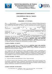 CARTA CONVITE - Prefeitura de Franca