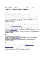 Beispiel Schweiz Reise mit 4 Tage Swiss Pass 1