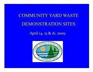 community yard waste demonstration sites - Delaware Department ...