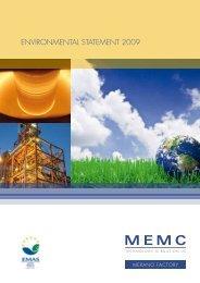 Merano 2009 Environmental Statement English MemcES_2009