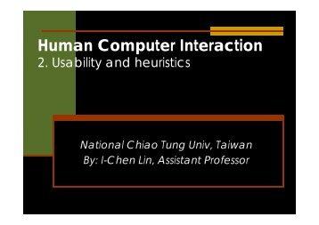 Usability and heuristics