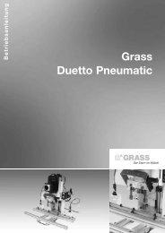 7. arbeiten mit der duetto - Grass