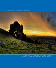 Adopted Budget Fiscal Year 2012-2013 - County of Sonoma